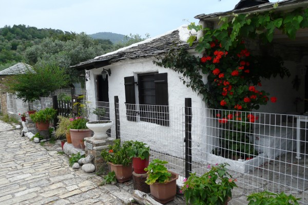 Traditional house with stone tiles variation2
