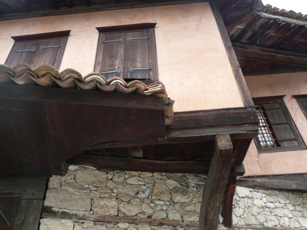 Traditional house with awning