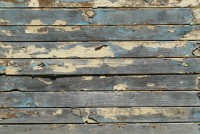 Planks with old blue paint.